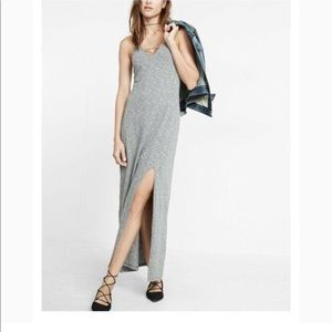 Express Cutout Maxi Dress with Side Slit in Grey